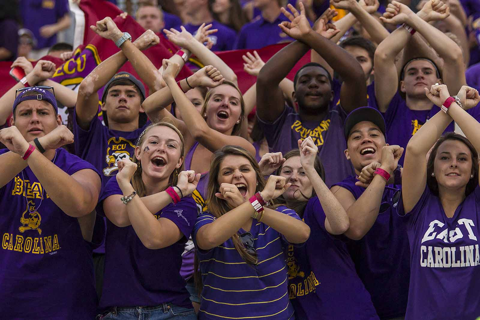 Student fans - ECU Media Relations photo