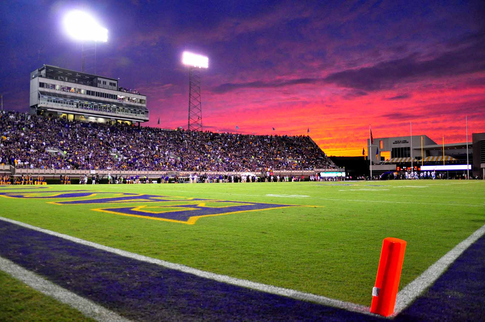 Purple sky over Dowdy-Ficklen Stadium by W.A. Myatt